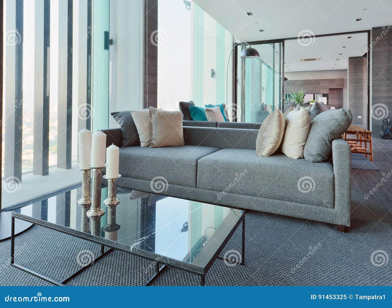 binnenland van de luxe het moderne woonkamer en decoratie, Deco ideeën