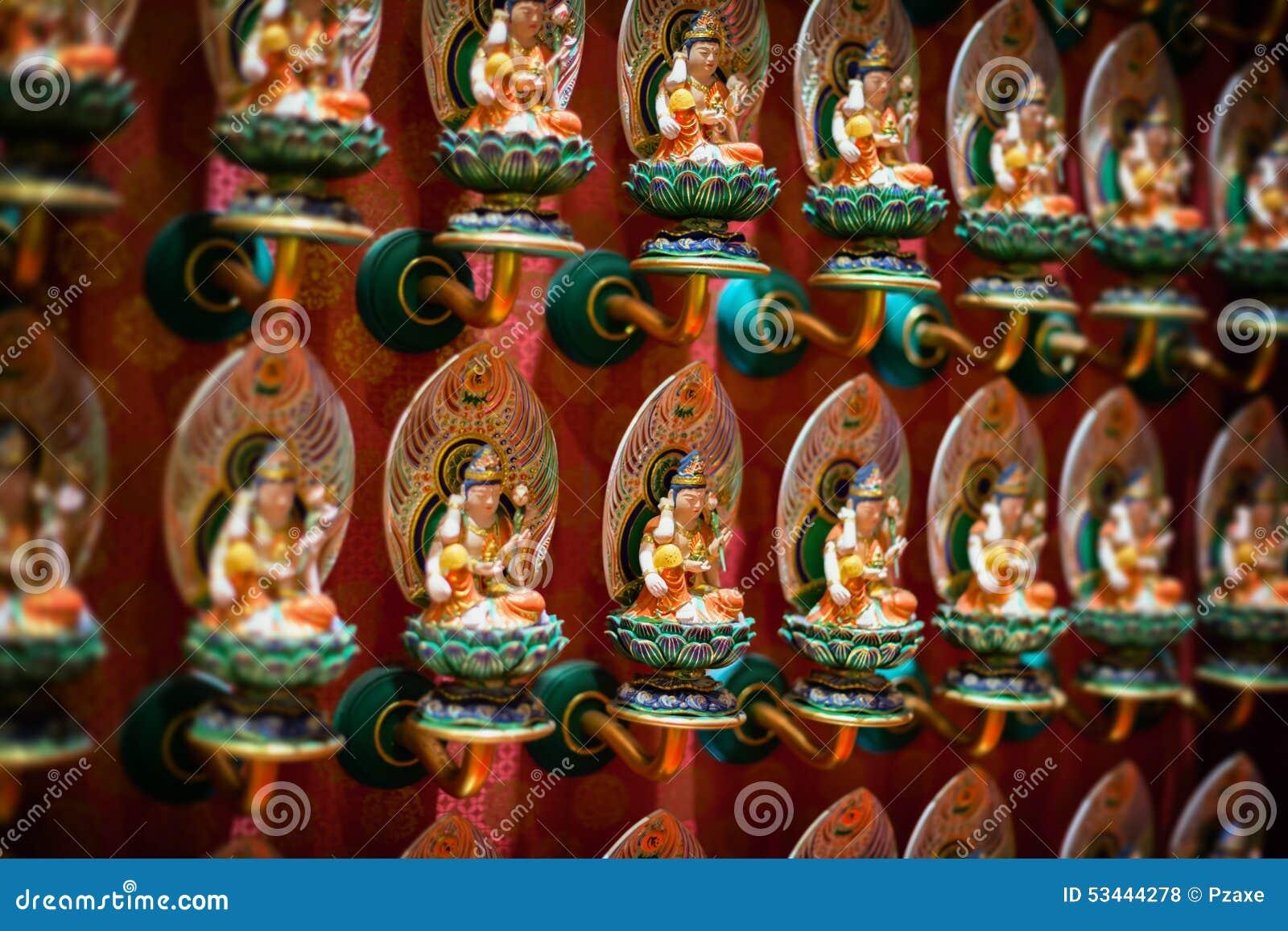 Binnenland van de Tempel van het de Tandoverblijfsel van Boedha in Singapore