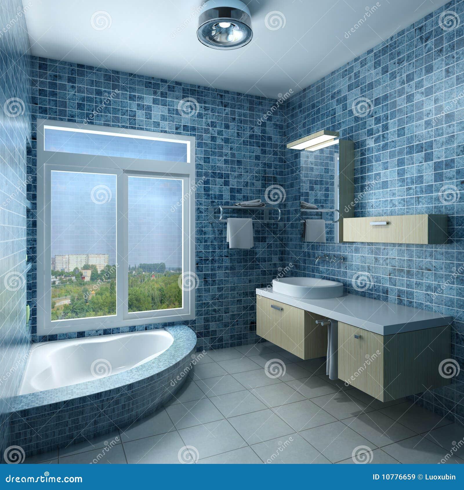 Binnenland van een badkamers