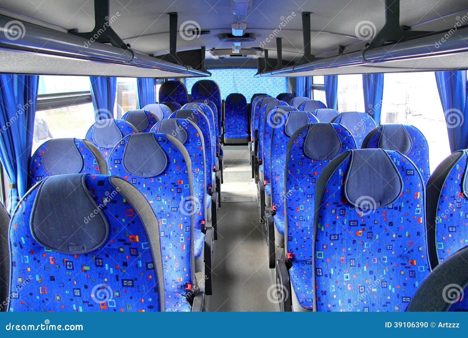 Binnenland van een bus
