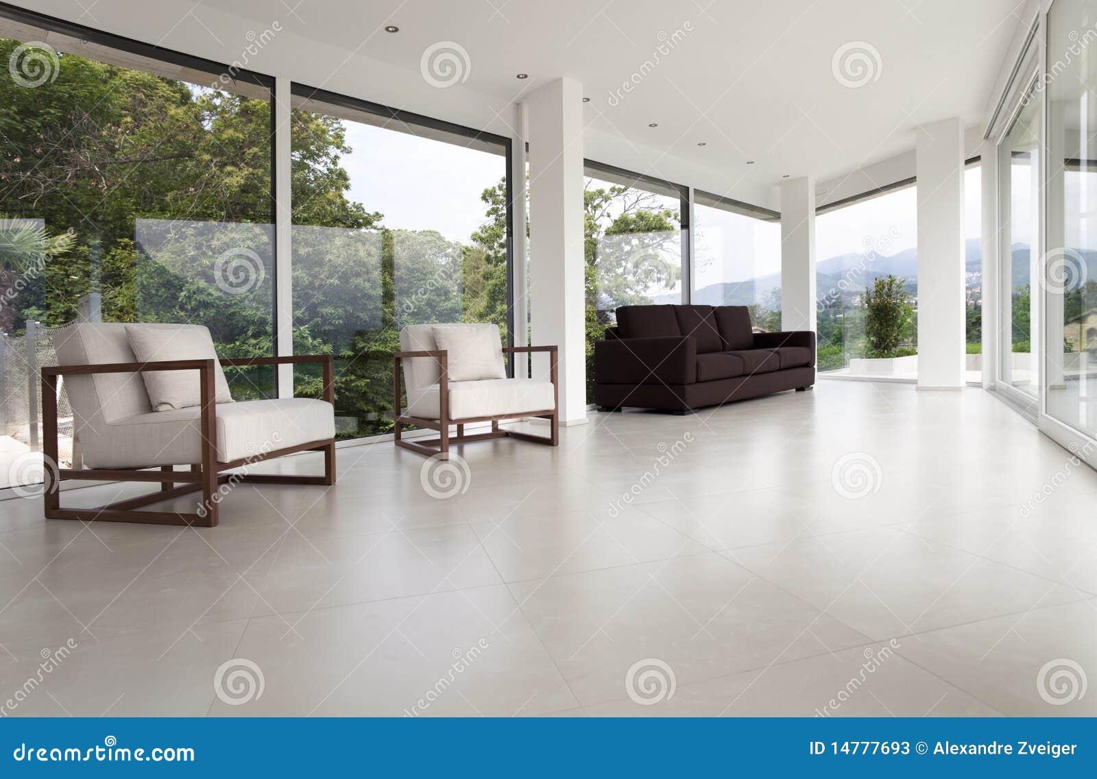 Binnenland van een modern huis