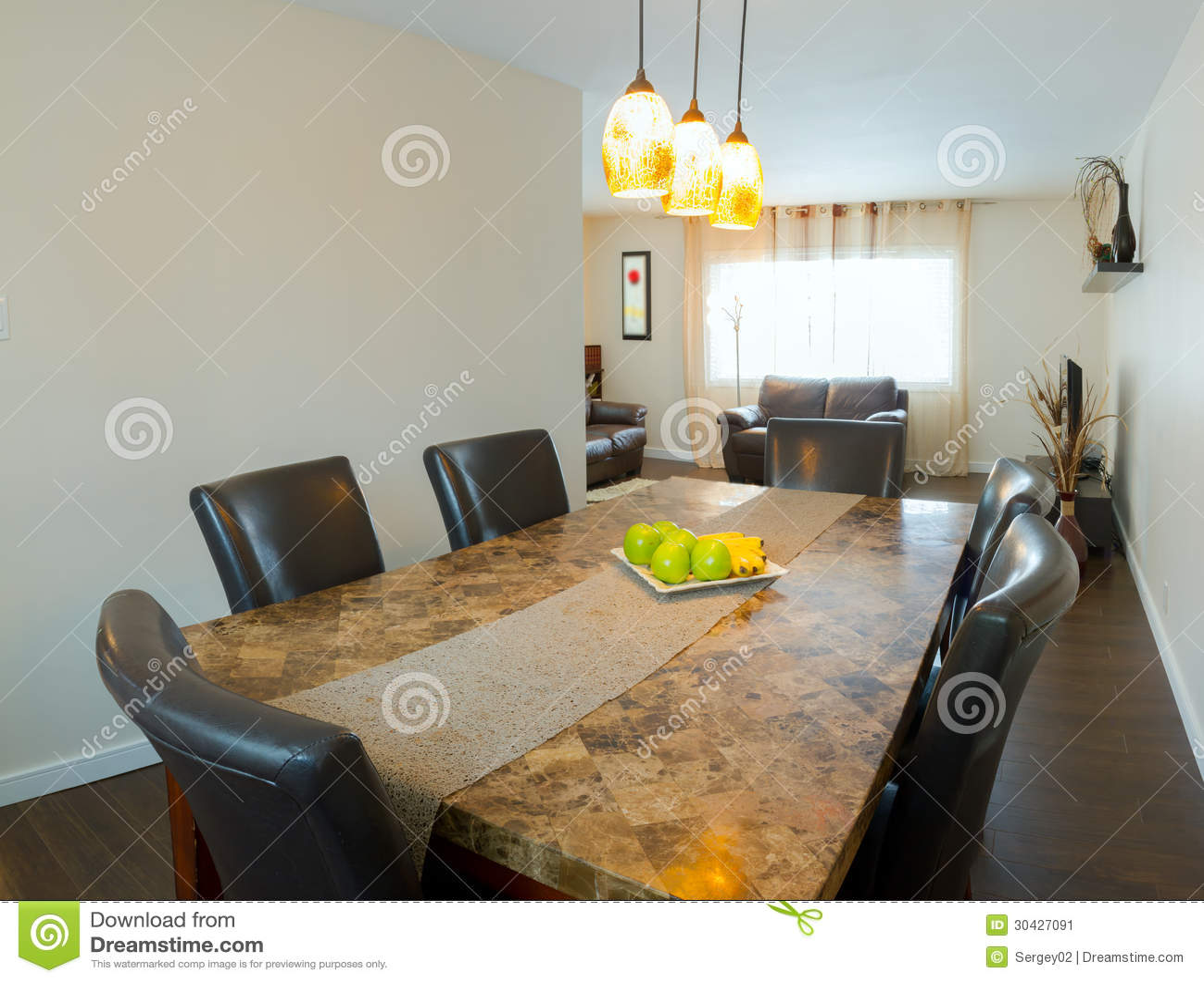 Binnenland van eetkamer stock afbeelding afbeelding bestaande uit