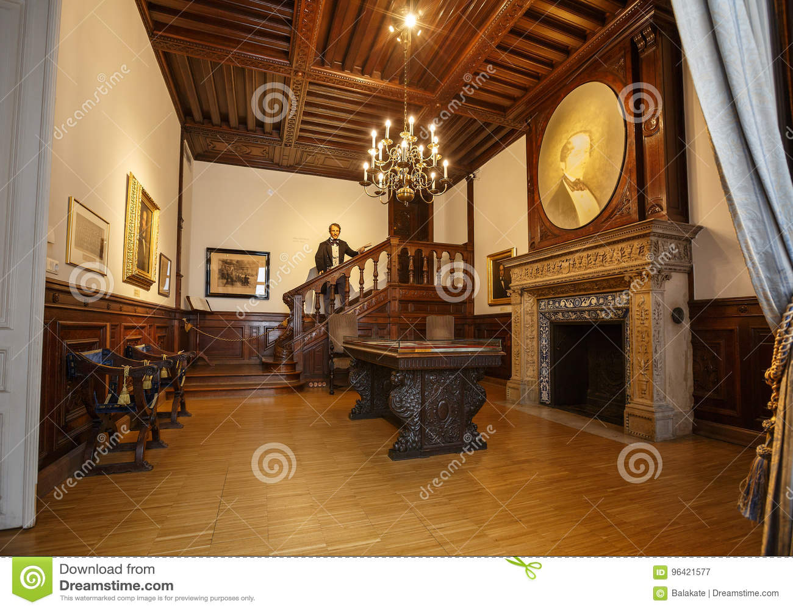 Binnenland van het Huis van muziek Wenen, Oostenrijk