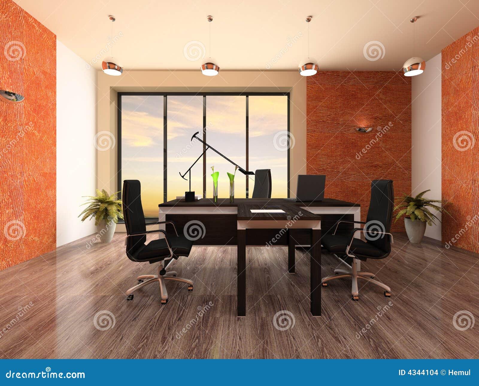 Binnenland van het moderne bureau