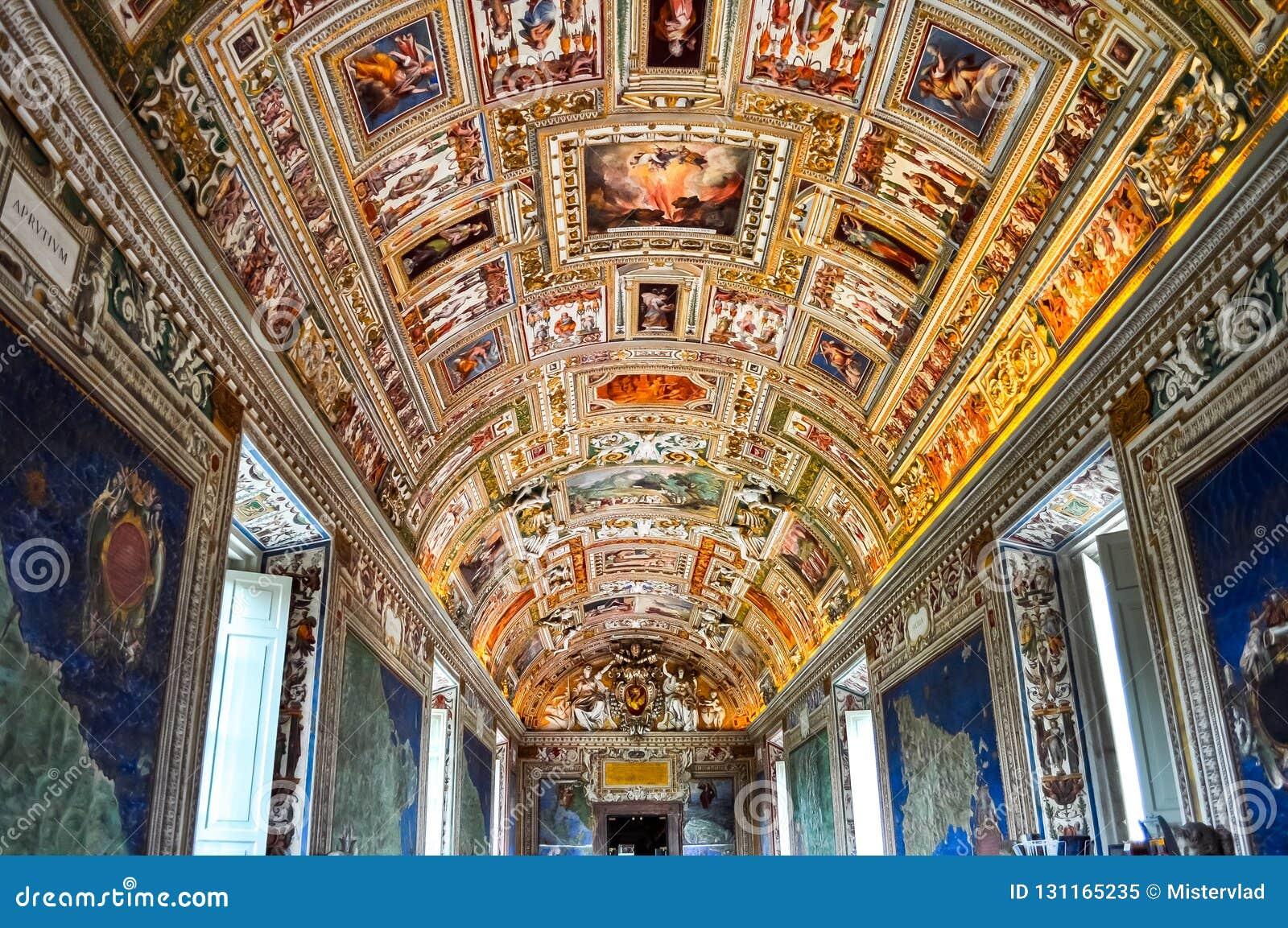 Binnenland van het museum van Vatikaan