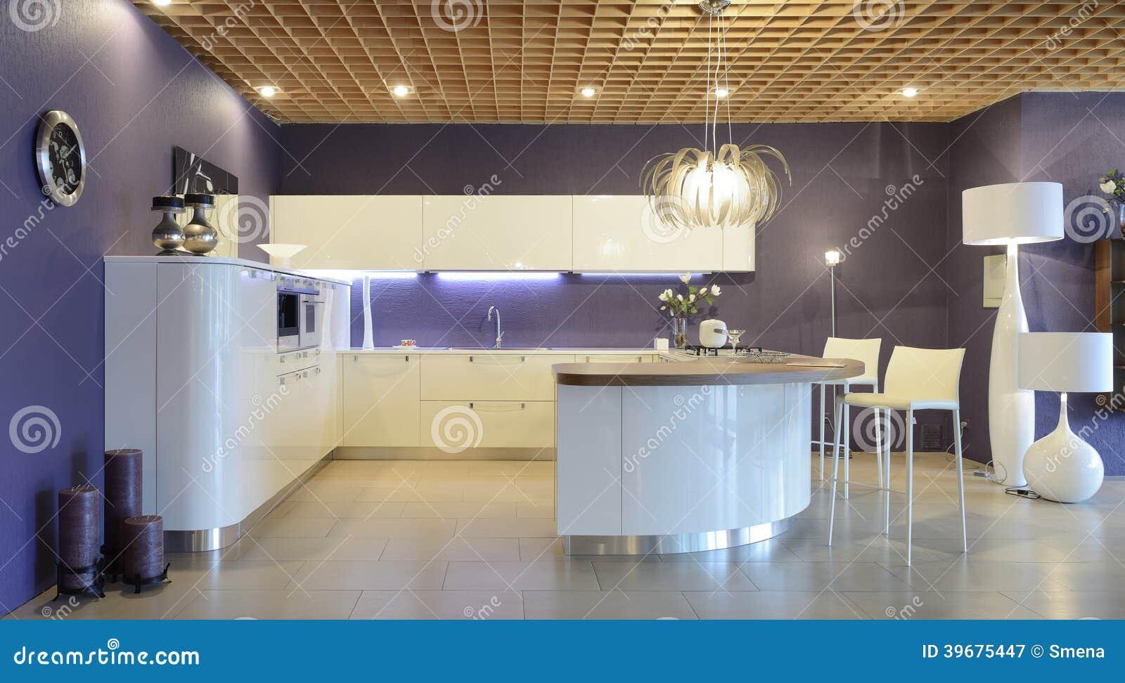Binnenland van moderne keuken.