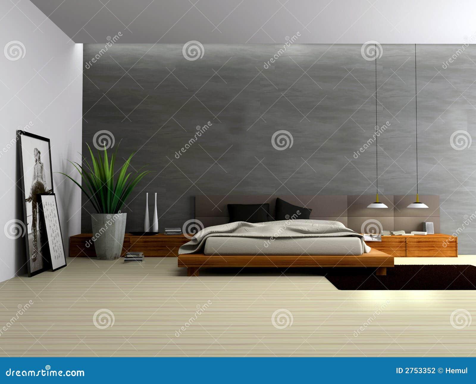 Binnenland van moderne slaapkamer stock fotografie for Moderne slaapkamer