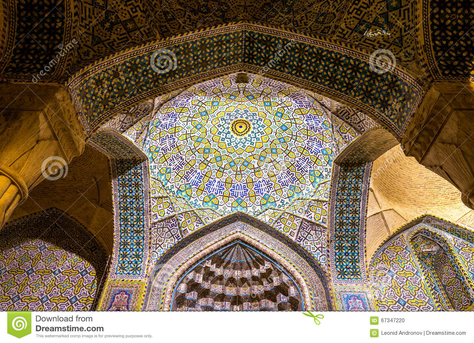 Binnenland van Vakil-Moskee in Shiraz, Iran