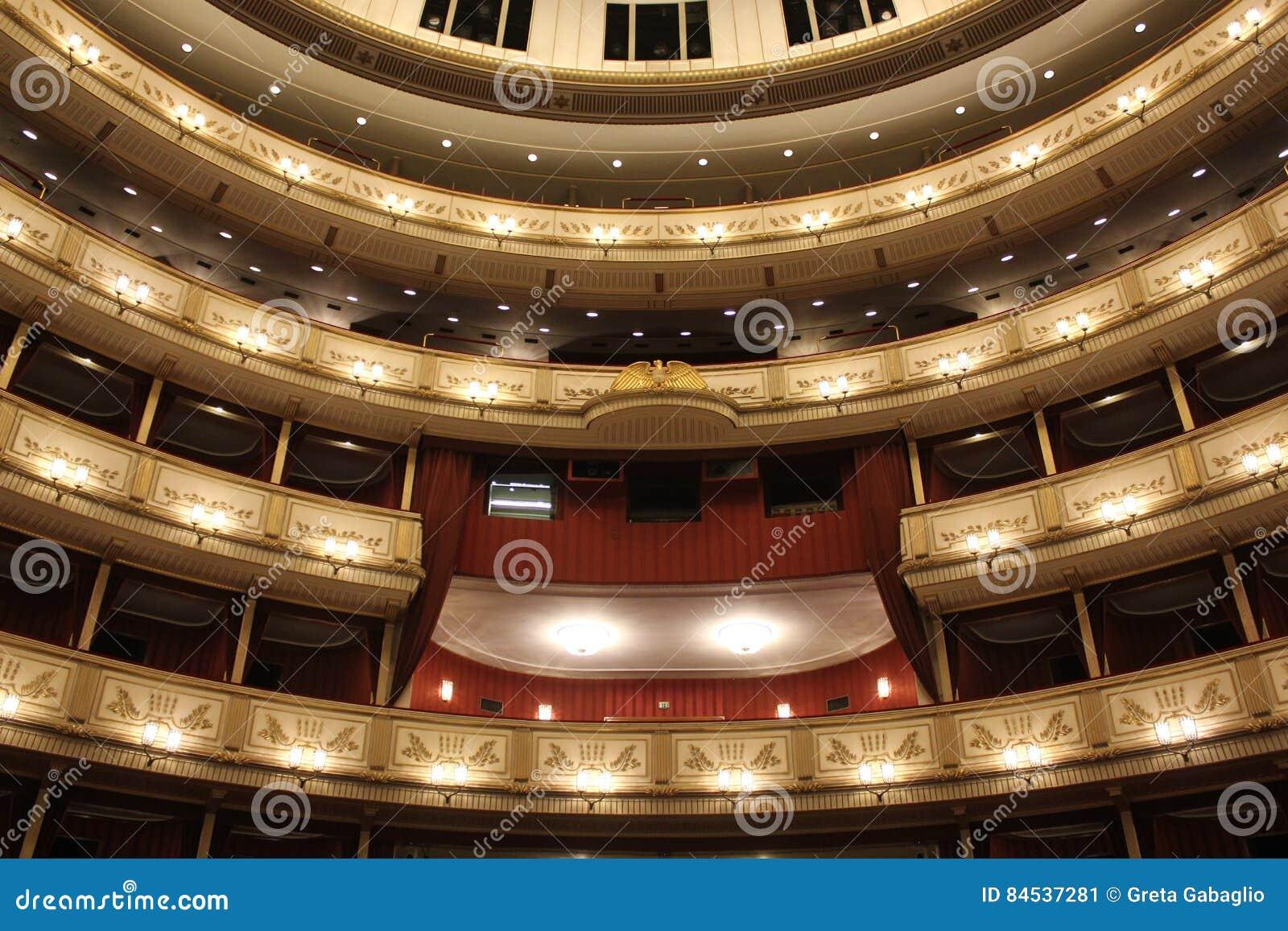Binnenland van Weense Staatsoper, de operahuis van Wenen