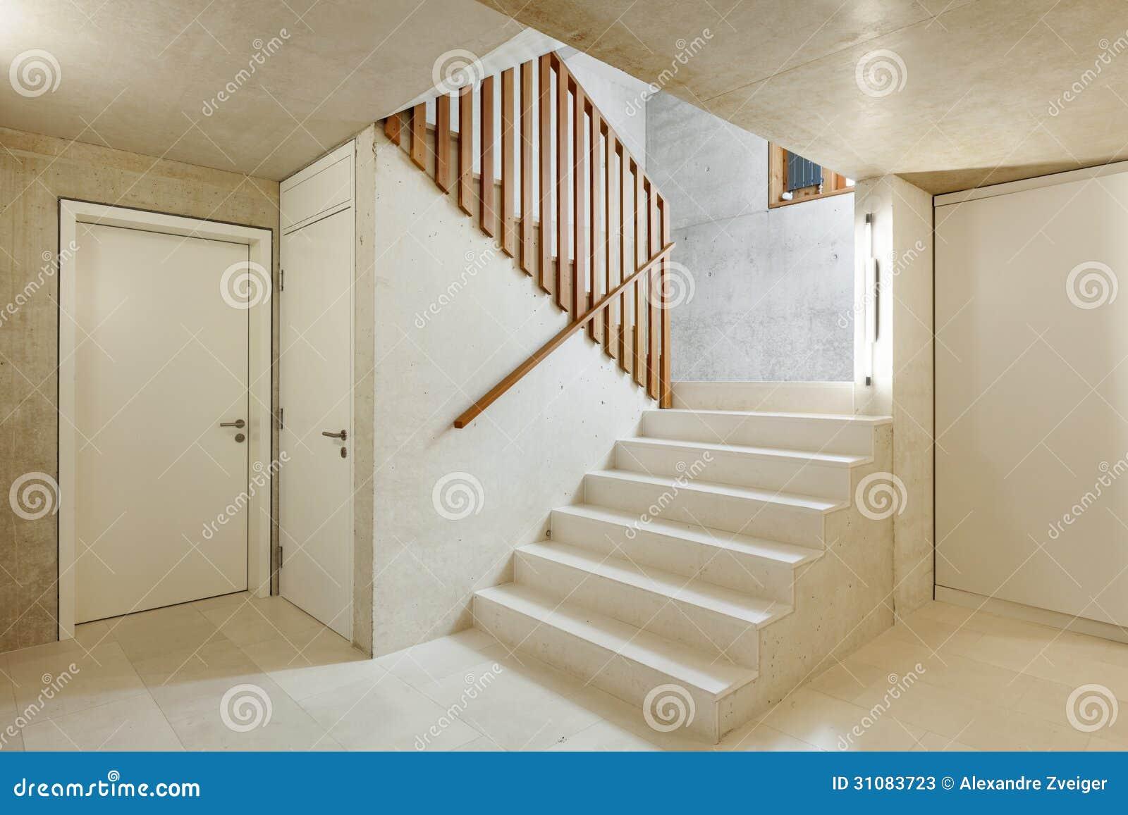 Binnenlands huis trap stock afbeelding afbeelding bestaande uit