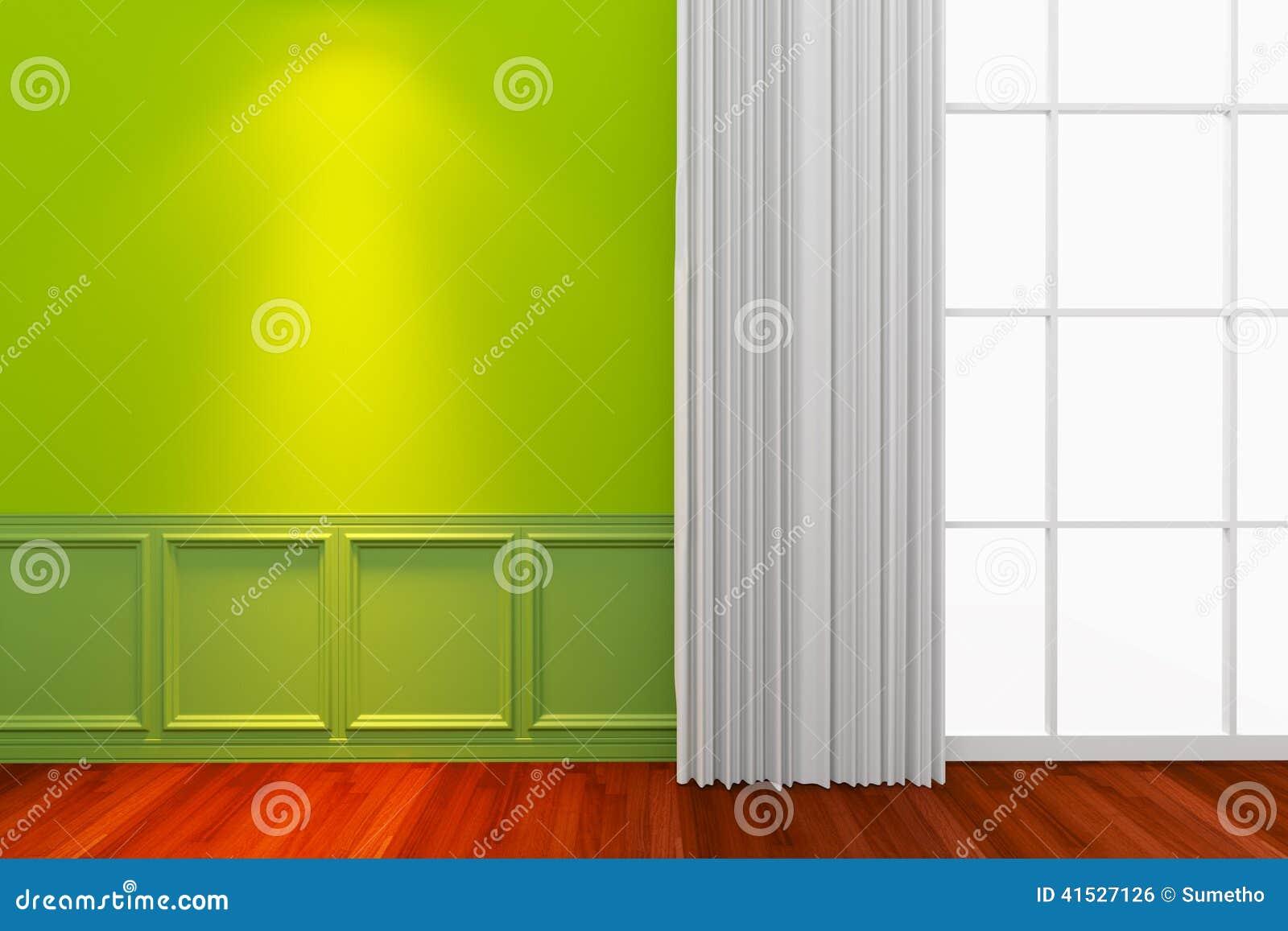 Binnenlandse groene muur stock illustratie afbeelding 41527126 - Kleur gevel eigentijds huis ...