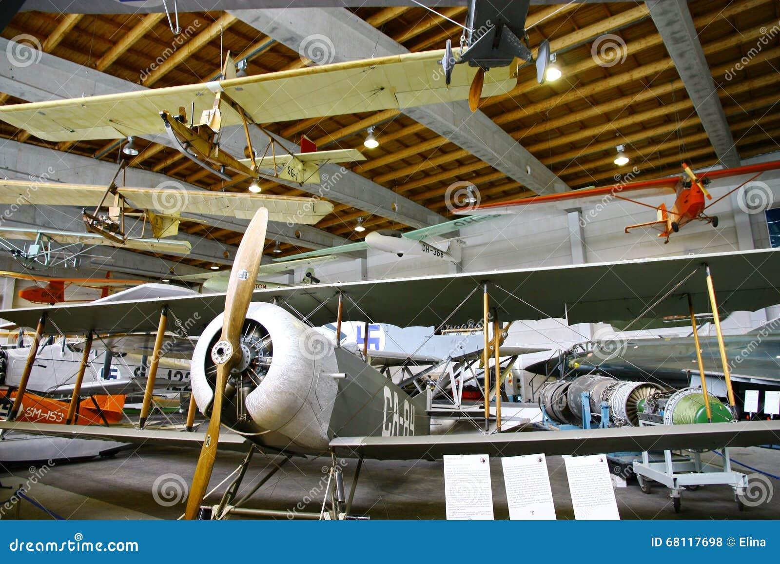 Binnenlandse Mening Van Het Luchtvaartmuseum In Vantaa Redactionele