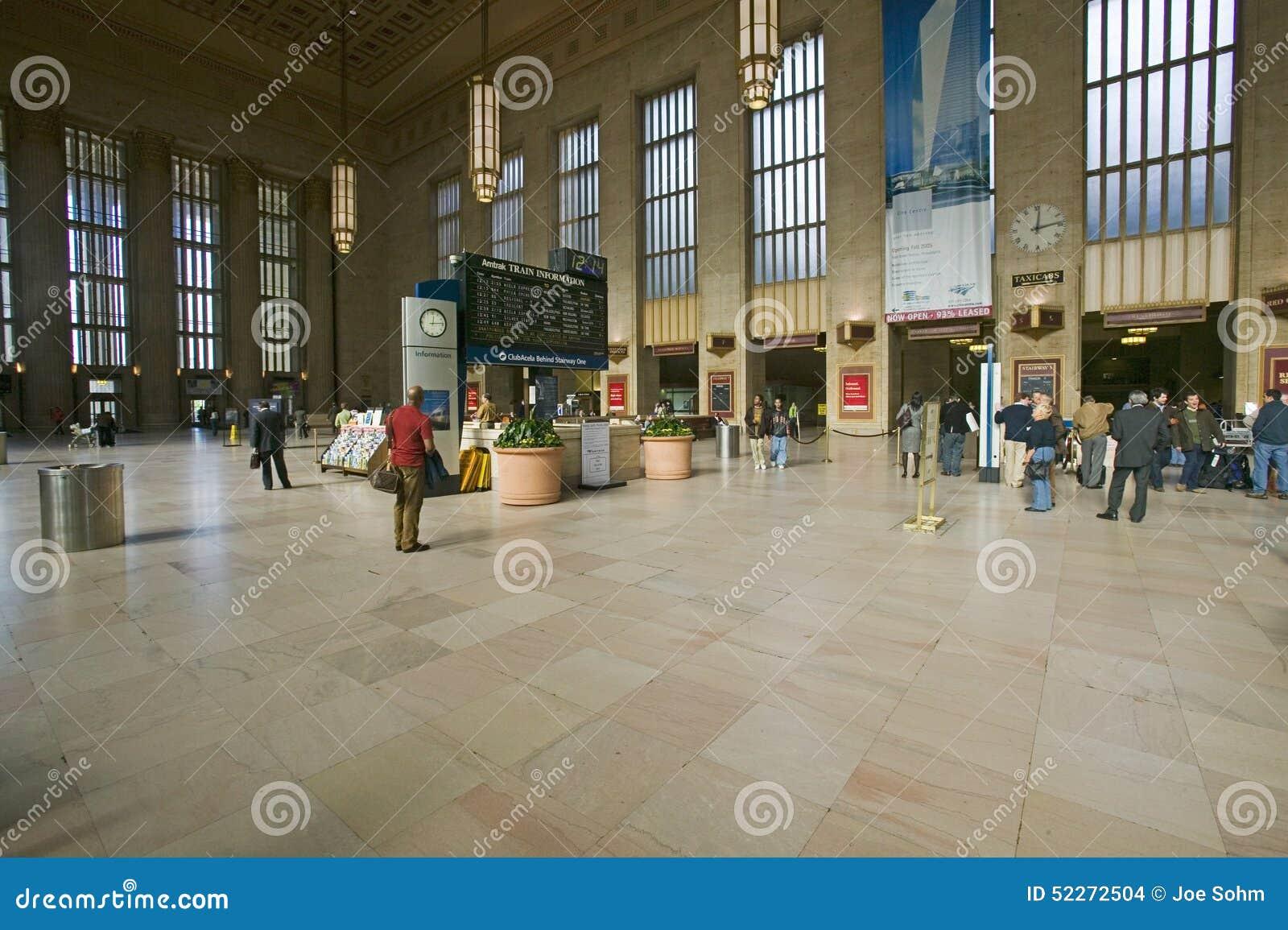Binnenlandse mening van 30ste Straatpost, een nationaal Register van Historische Plaatsen, AMTRAK-Station in Philadelphia, PA