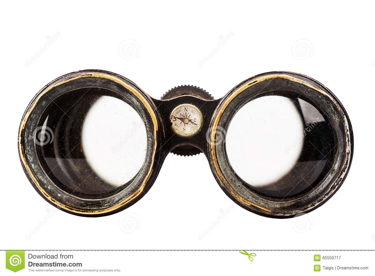 Binoculars isolated vintage