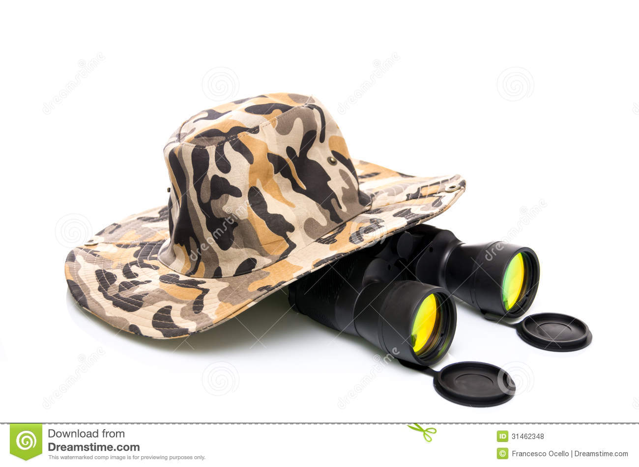 Binoculars And A Safari Hat Stock Photo - Image of pattern 020f6509a4a