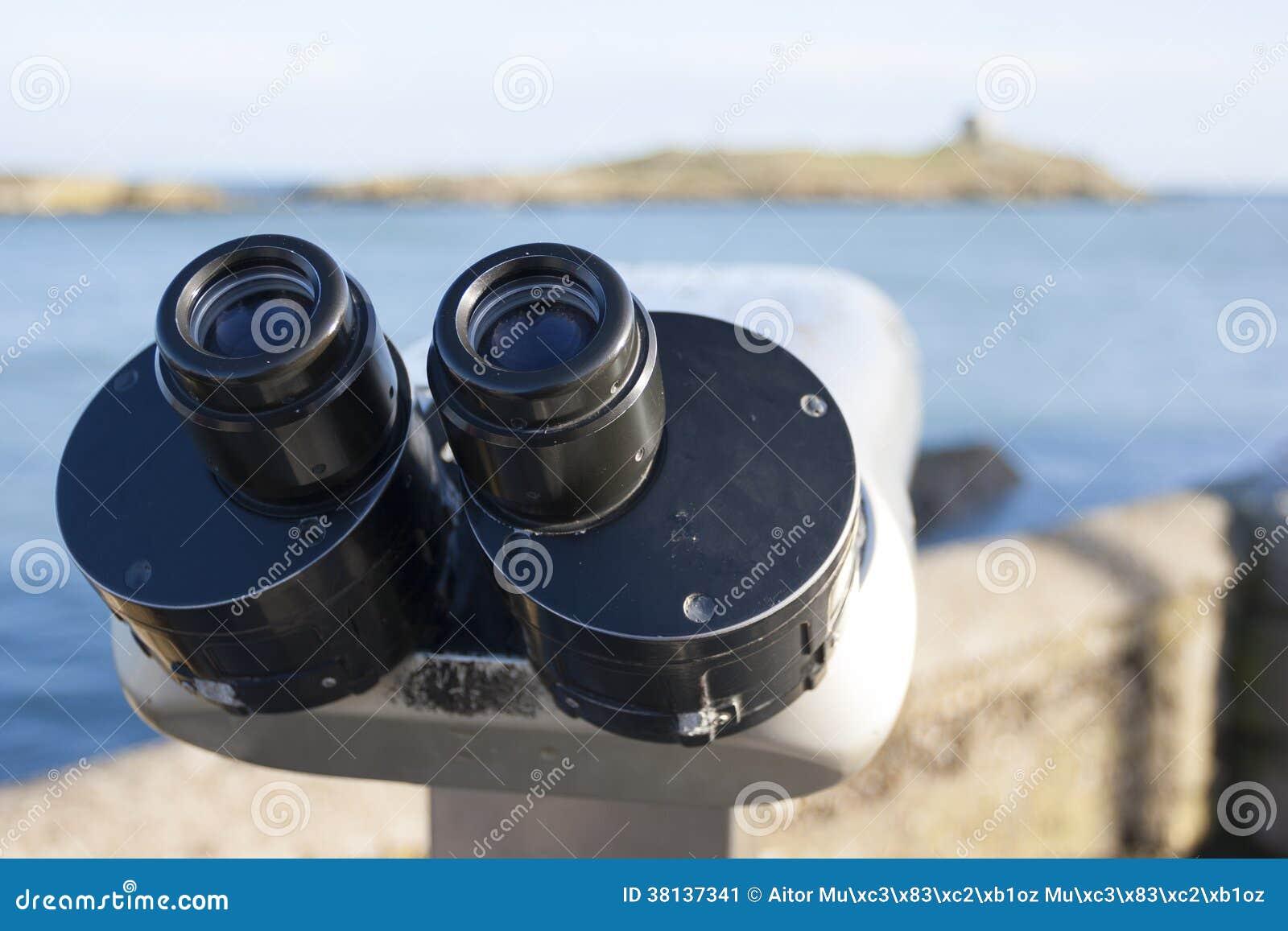 Binoculars by the Sea stock image. Image of coast, dalkey ...