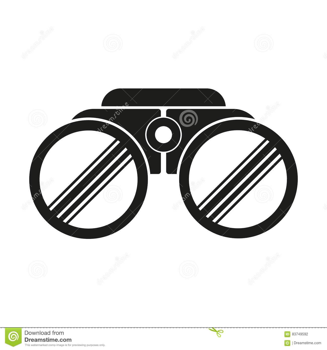 binoculars icon vector - photo #21