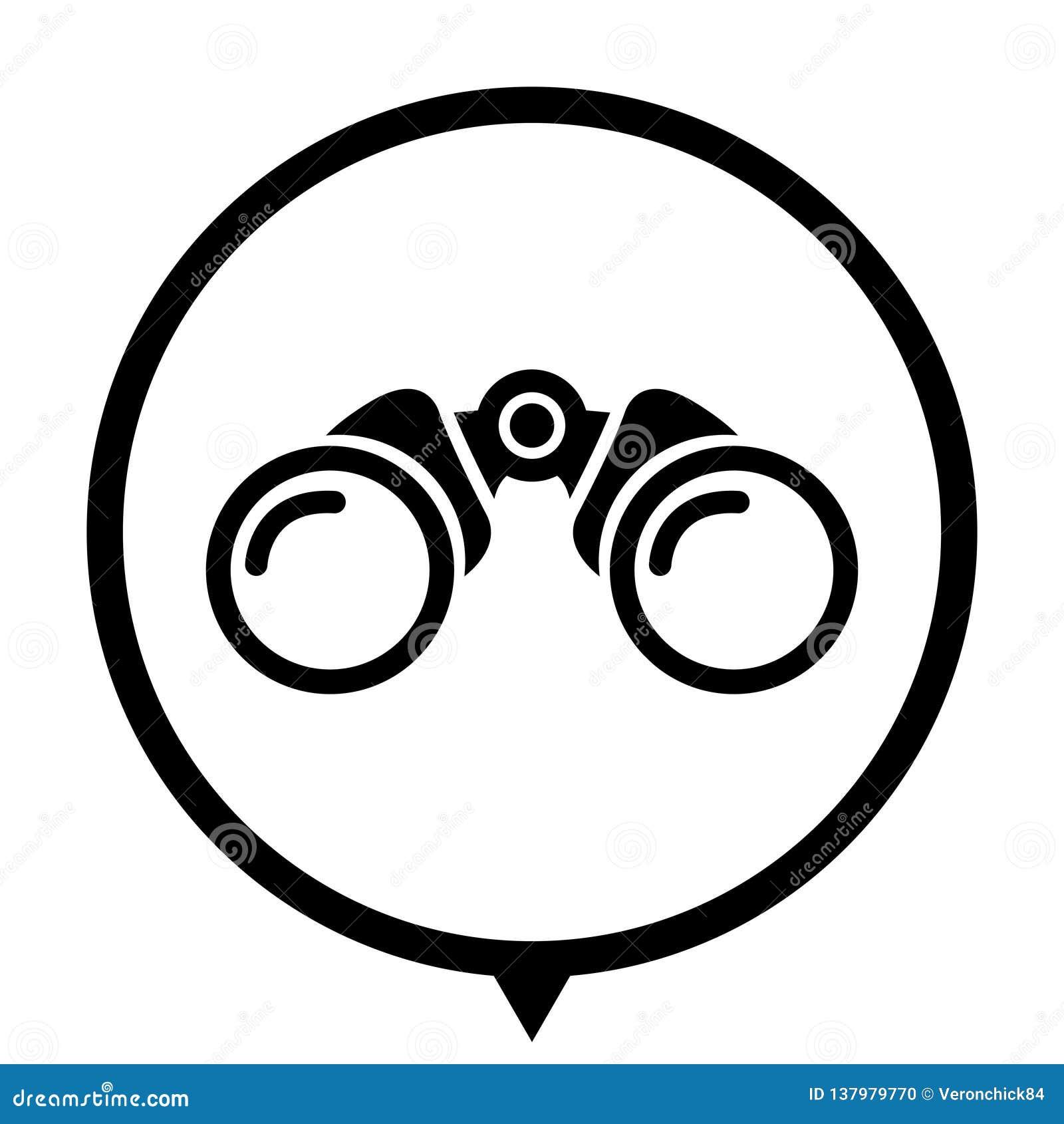 Binokular - Ikone für Webdesign