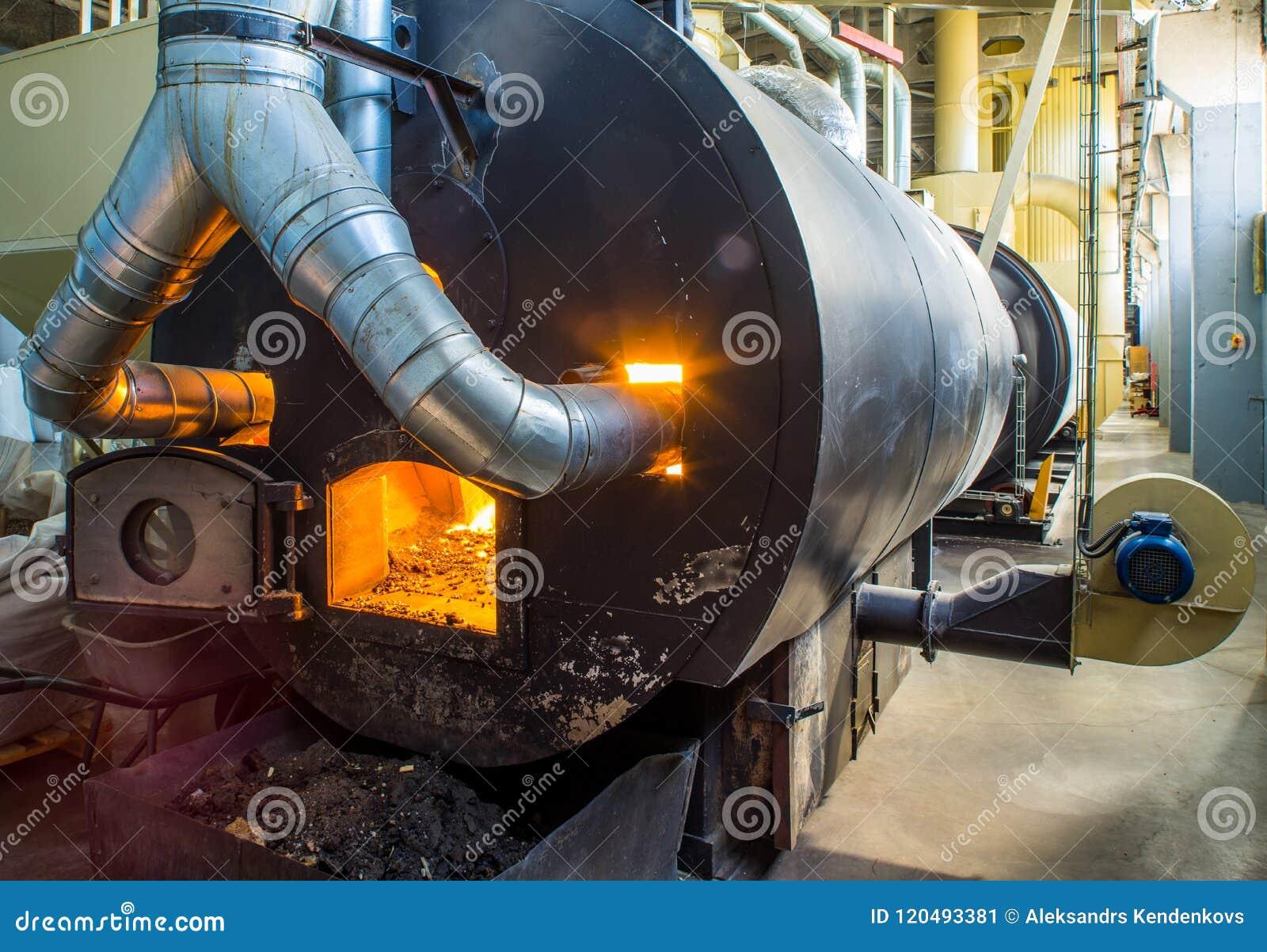 Bio- combustibile bruciante delle palline nella caldaia Economico, combustibile di ecologicla