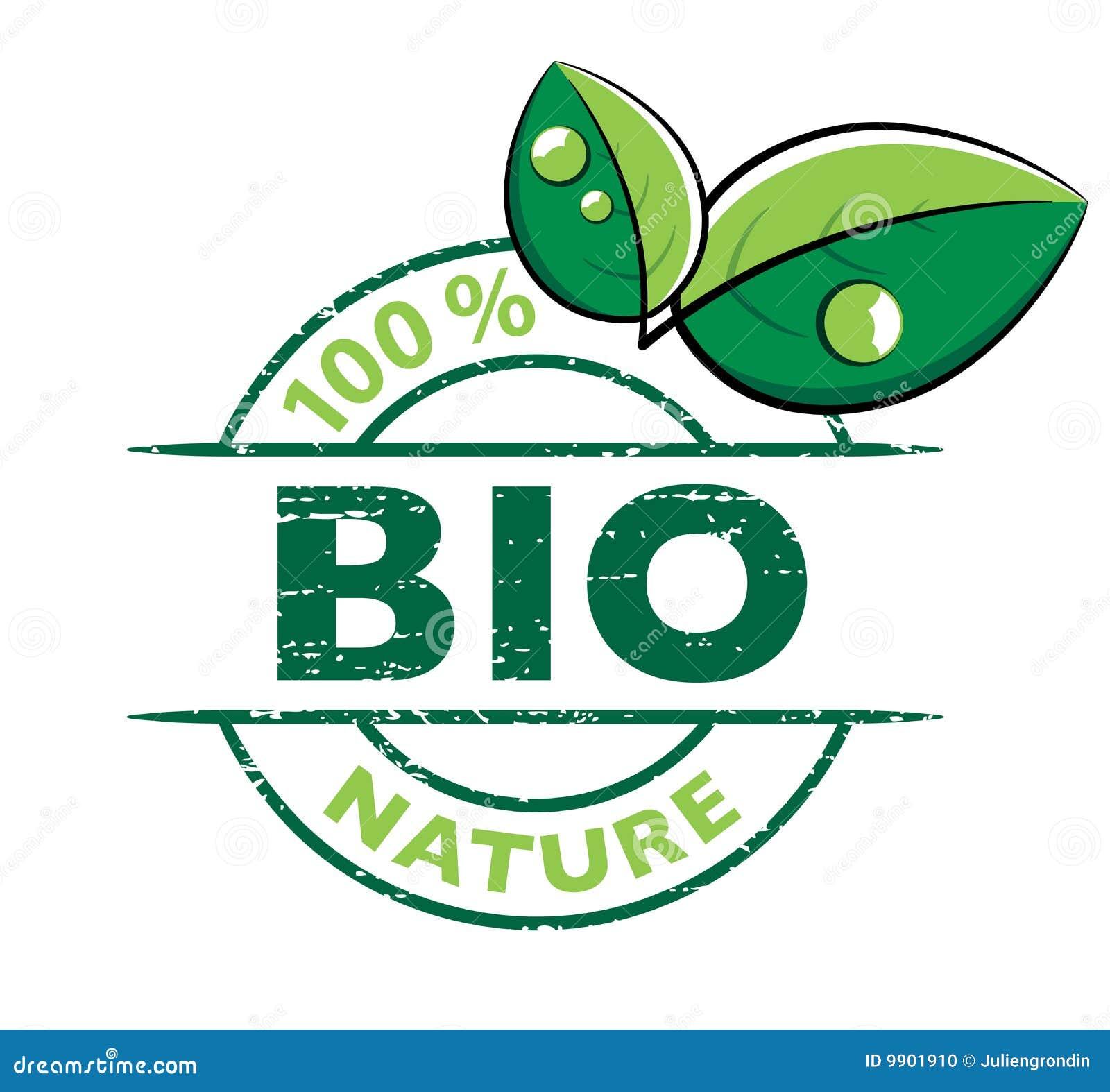 bio design with leaves stock photo