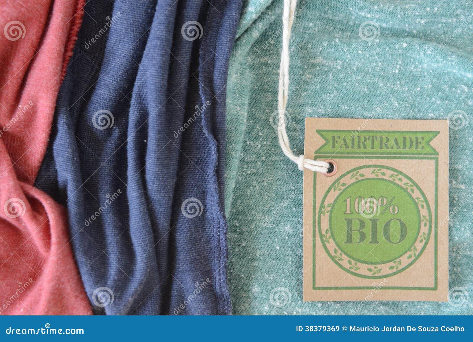 Bio- etichetta organica certificata del tessuto.