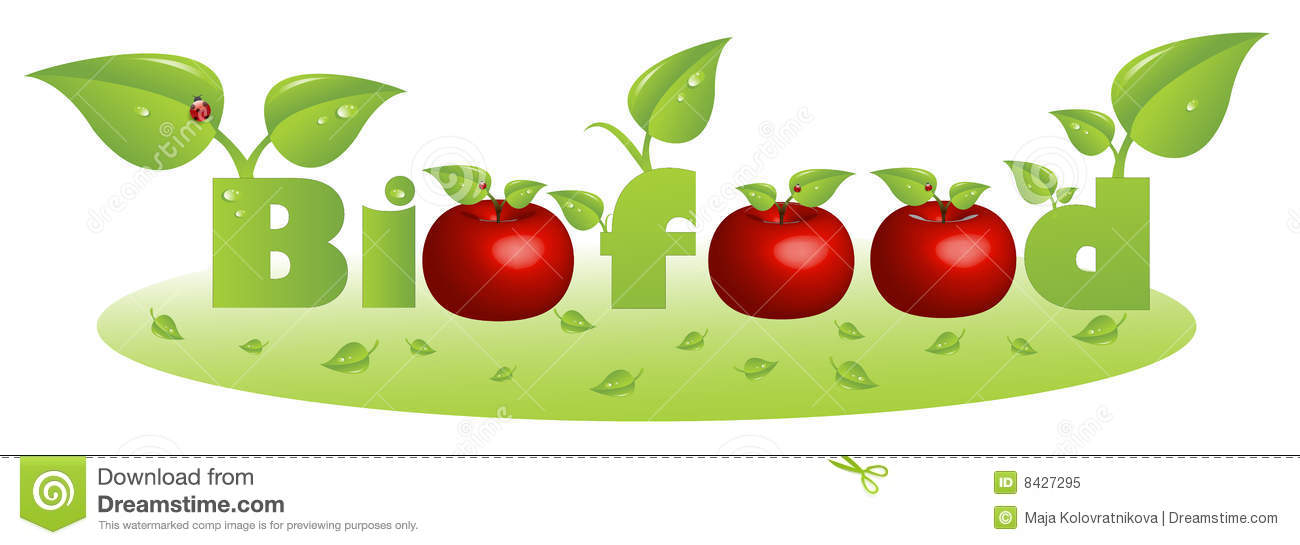Bio Food Text Caption With Red Apples Royalty Free Stock Photo - Image ...