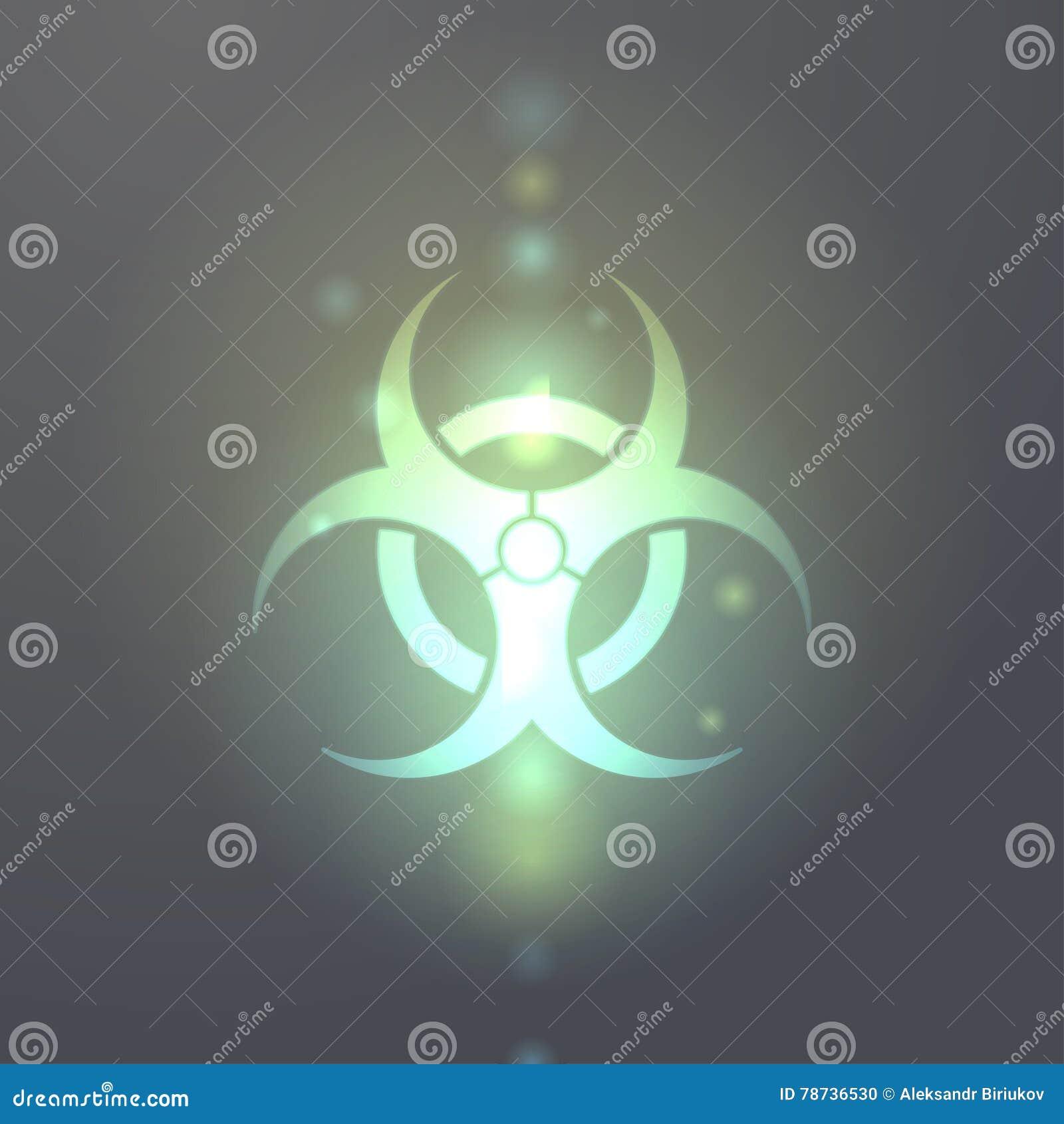 Bio-Gefahrensymbolikone