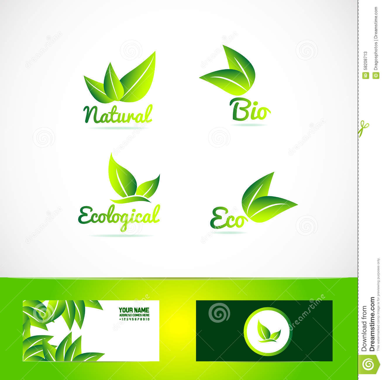 Vector company logo icon element template bio eco product organic leaf ...