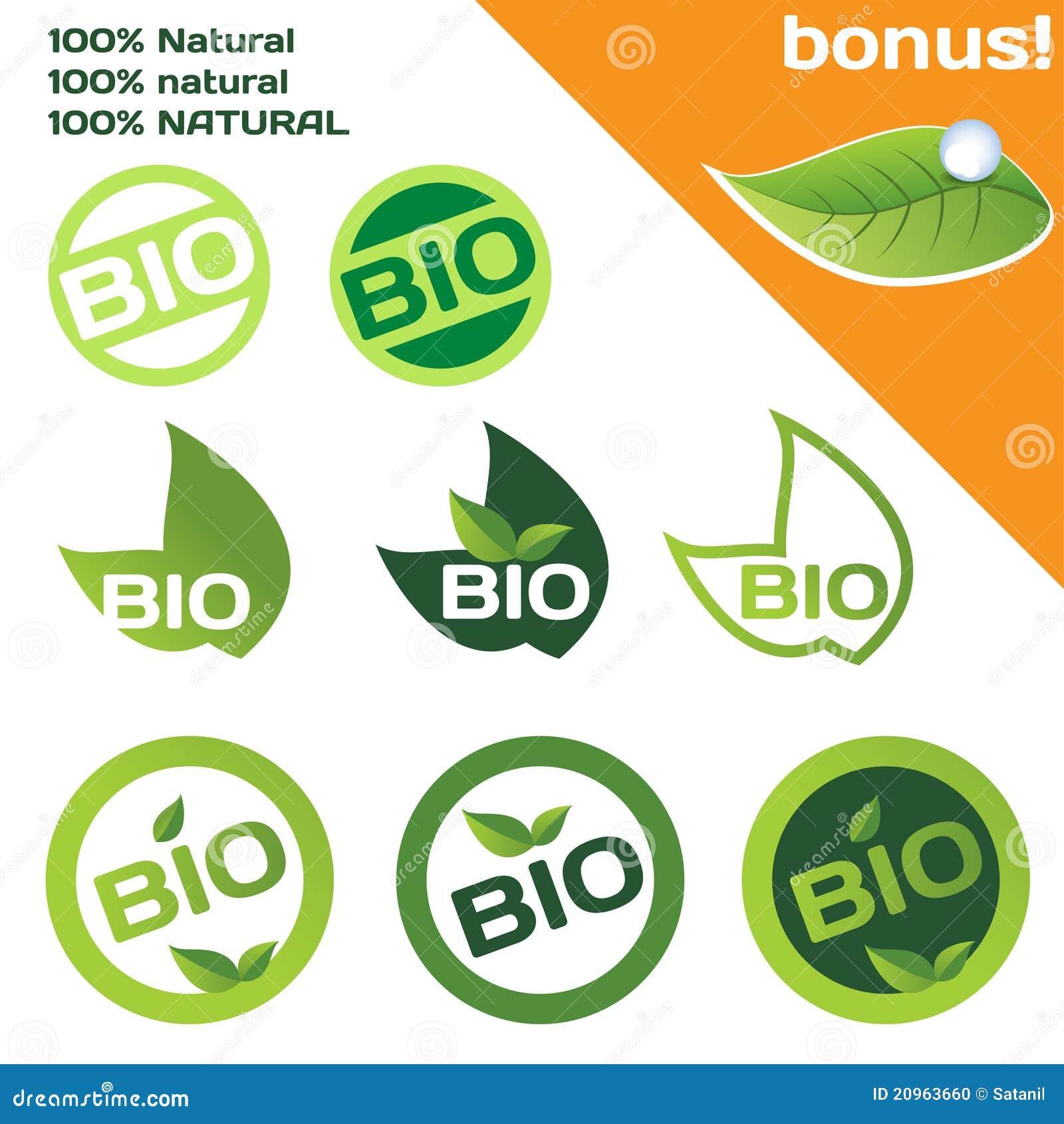 Bio Or Organic Logo Stock Photo - Image: 20963660
