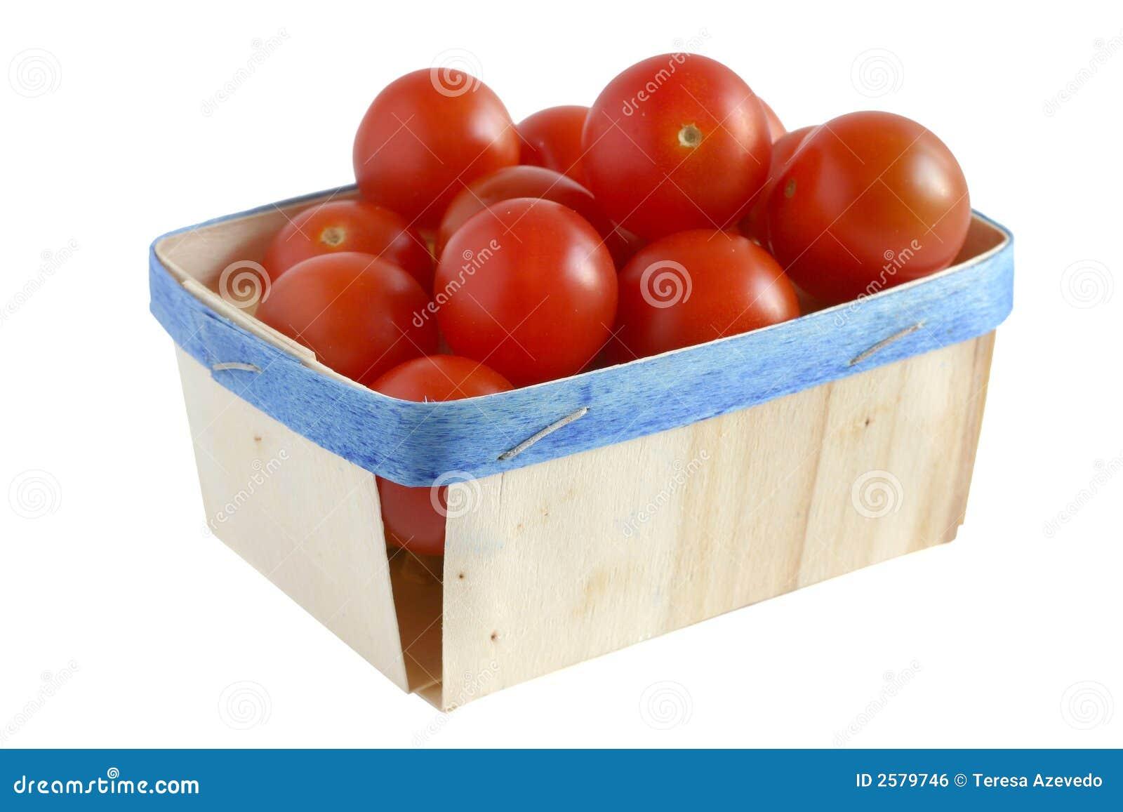 Bio voedsel - de tomaten van de Kers