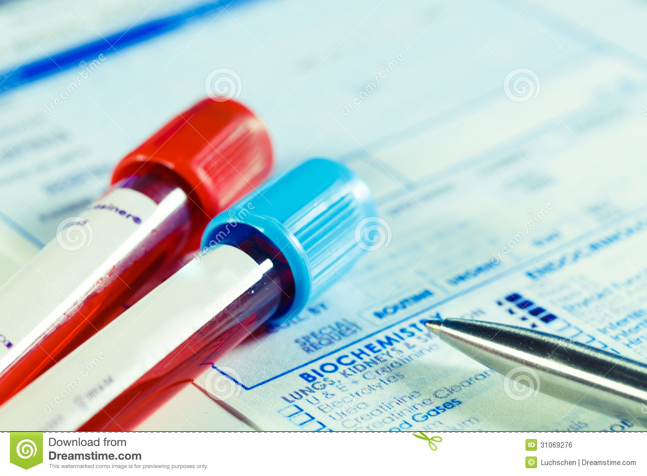 Biochemistry Blood Tests Royalty Free Stock Image - Image: 31069276