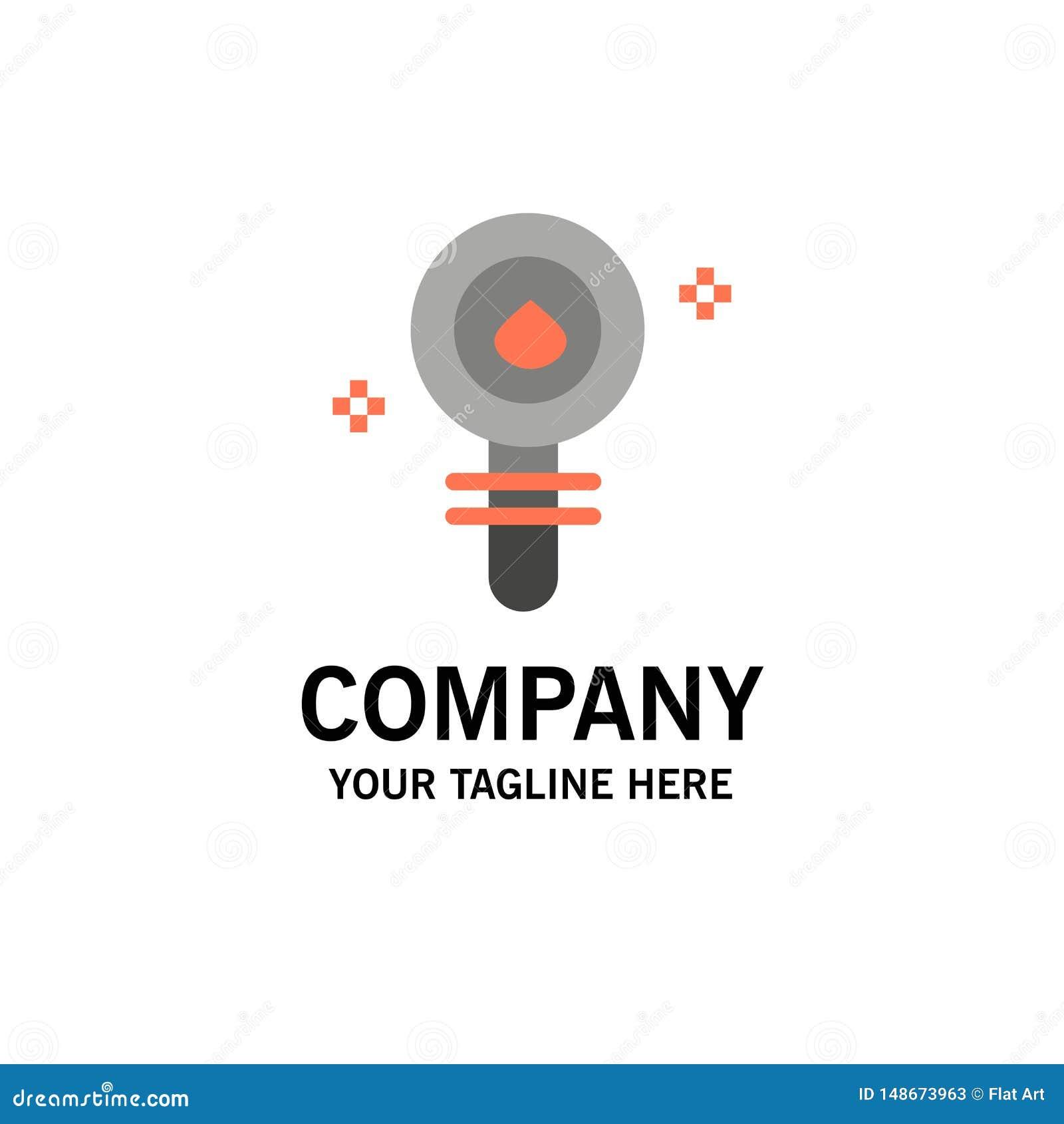 Biochimie, biologie, cellule, chimie, affaires Logo Template de laboratoire couleur plate