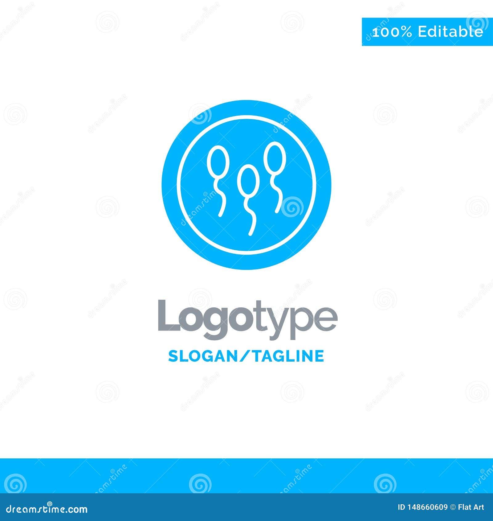 Biochimie, biologie, chimie, laboratoire, processus Logo Template solide bleu Endroit pour le Tagline