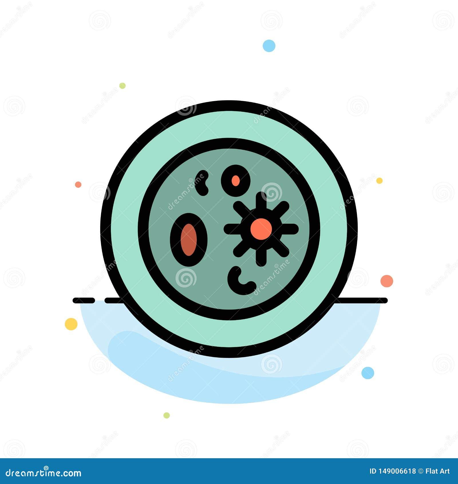 Biochimie, biologie, chimie, plat, calibre plat d icône de couleur d abrégé sur laboratoire
