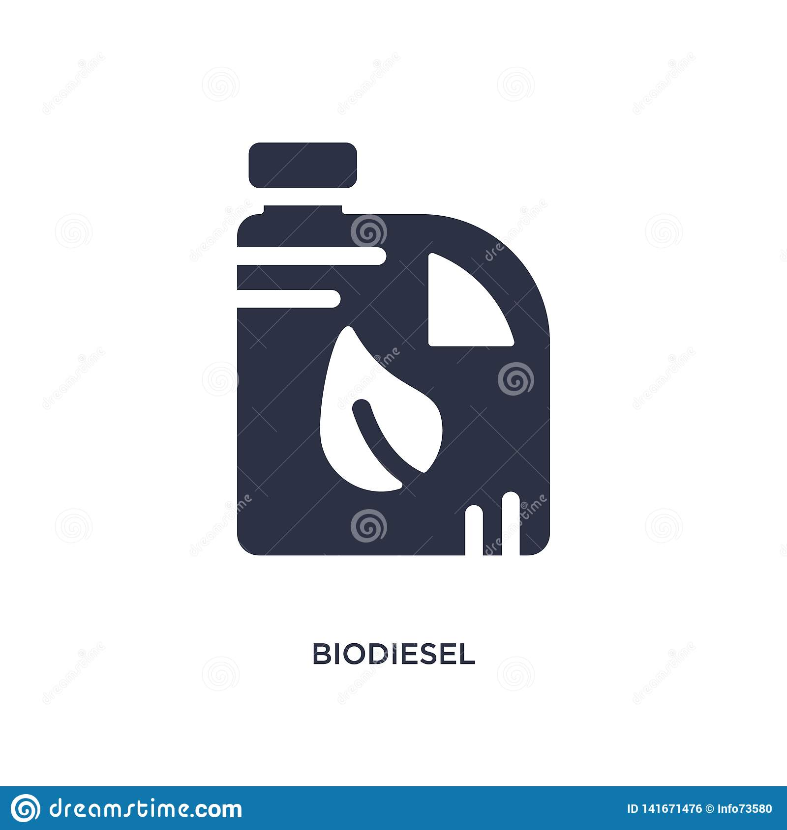 biodiesel icon on white background. Simple element illustration from ecology concept