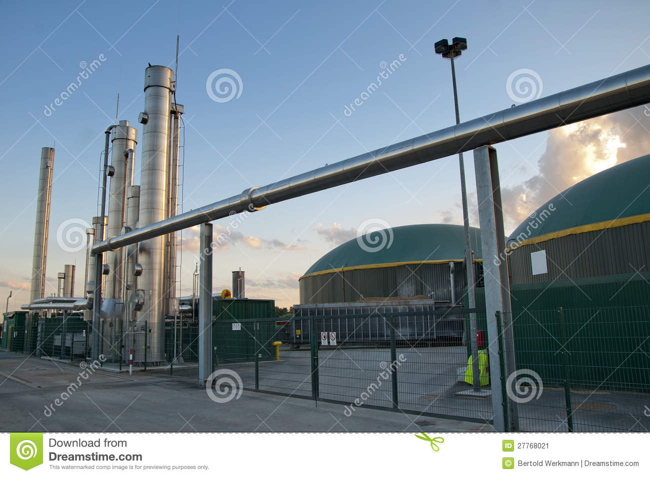 Biogas Plant Stock Image Of Door Factory Environmental Large Bio Gas Diagram
