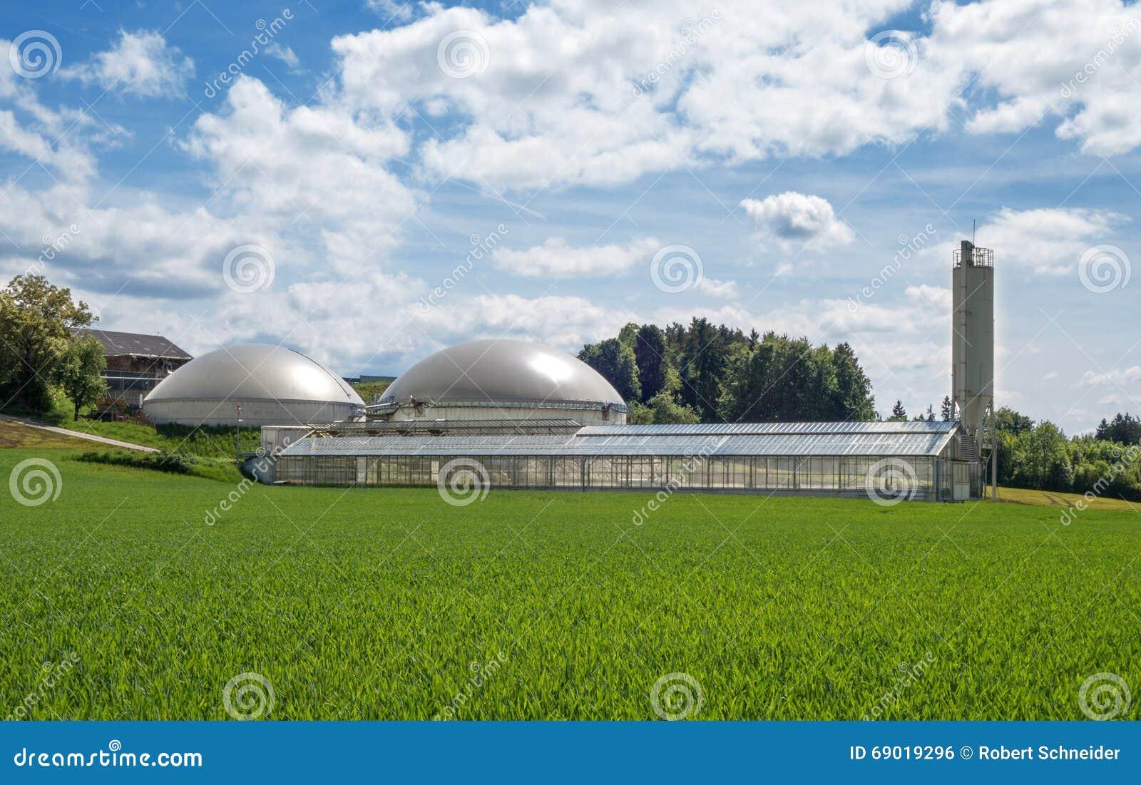 Biogas plant and sewage sludge drying