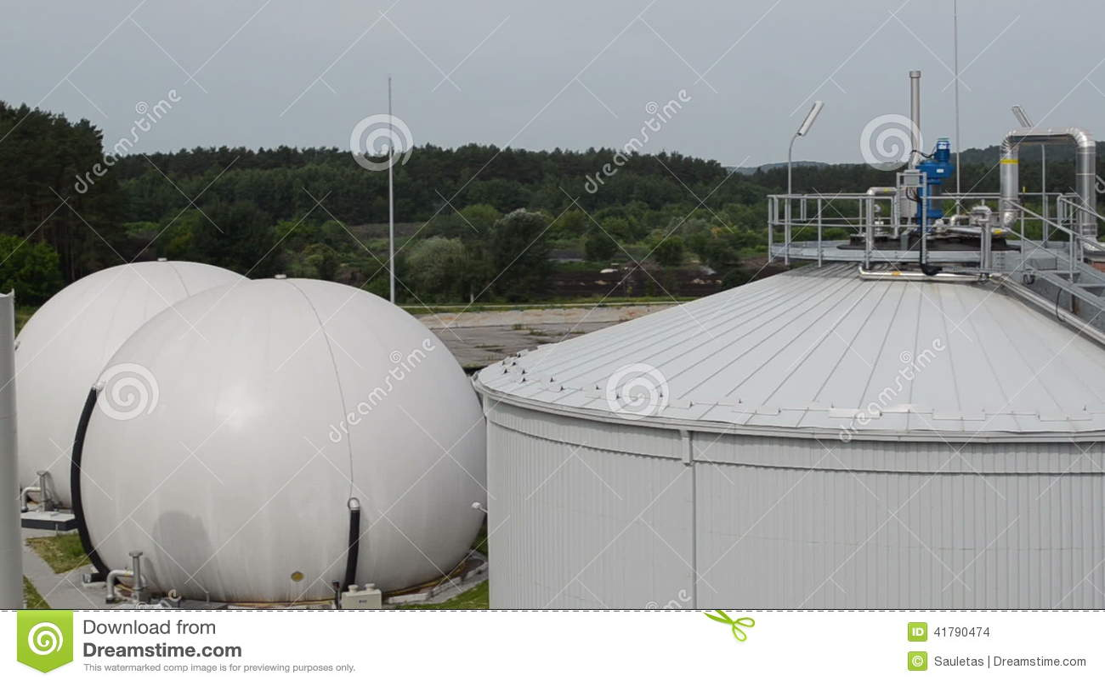 Biogas plant sludge stock footage  Video of environmental - 41790474