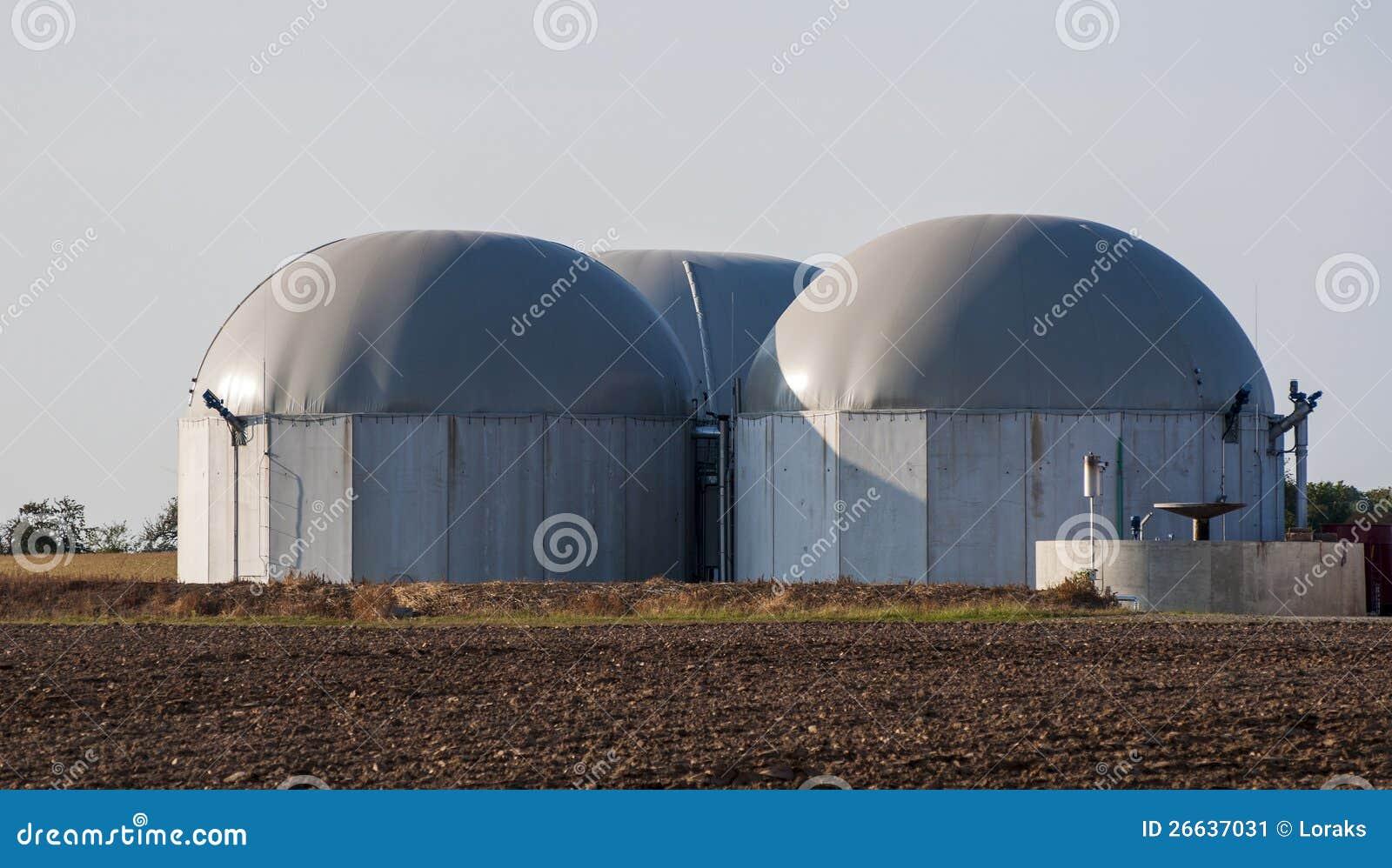 Biogasbecken.