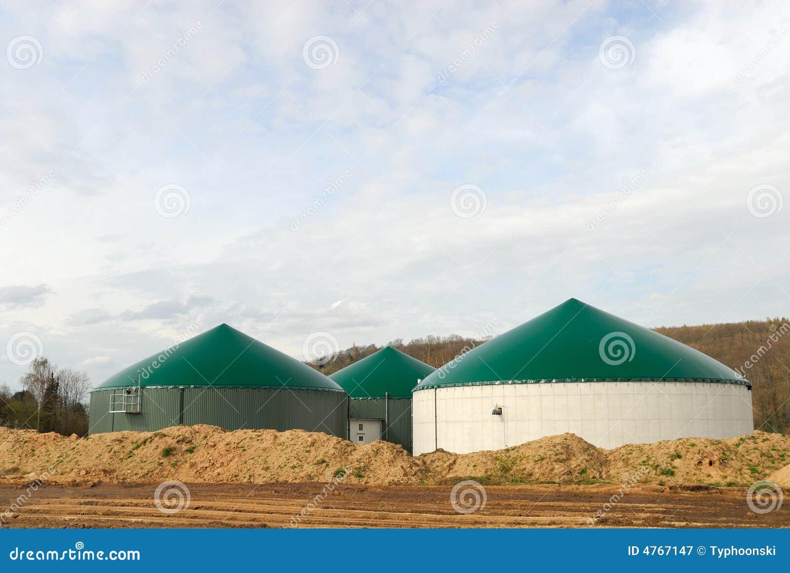 Biogasväxtström