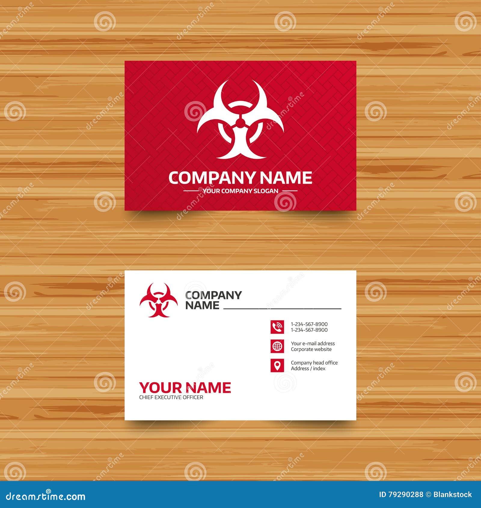 Biohazard Sign Icon  Danger Symbol  Stock Vector - Illustration of