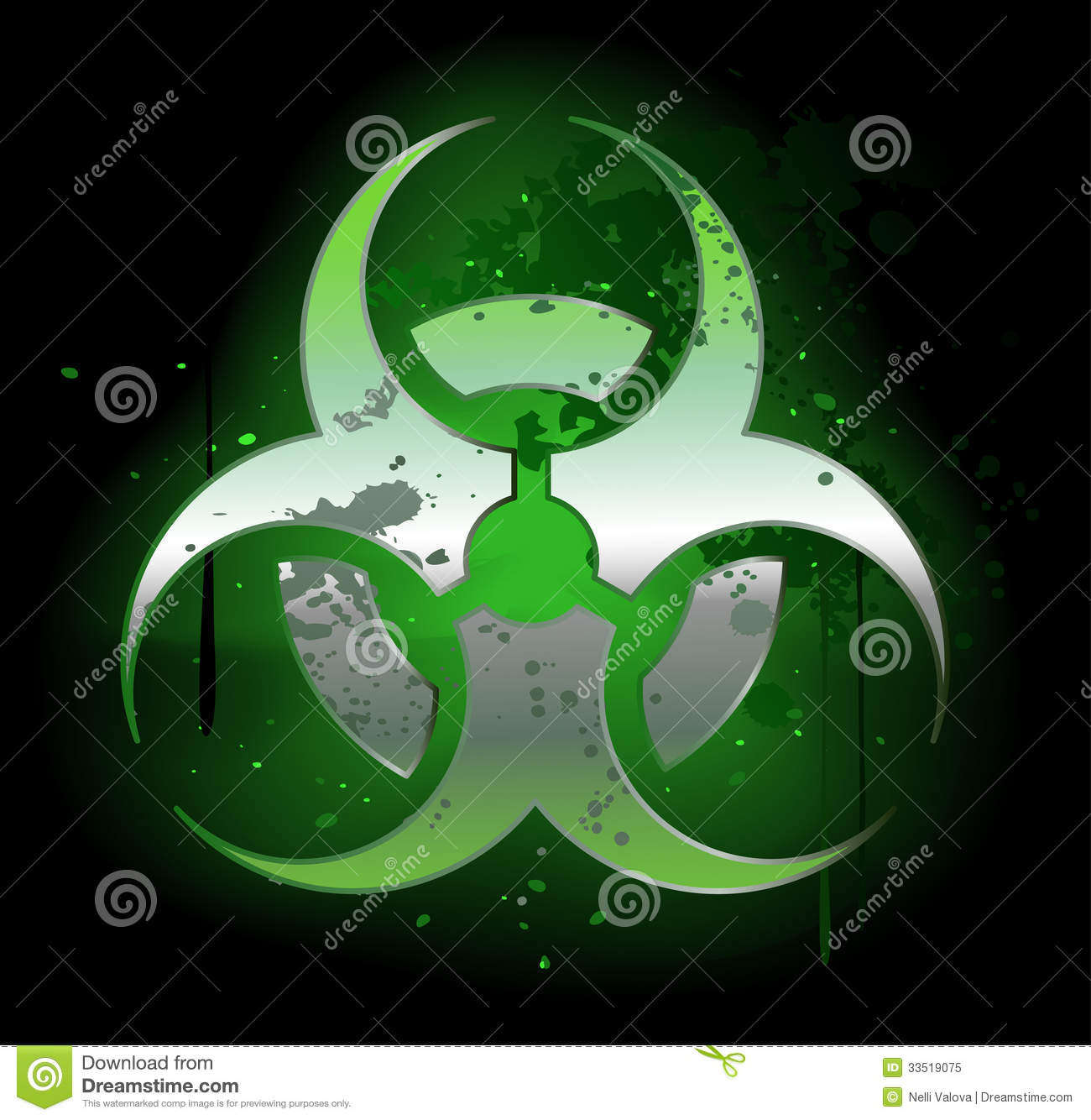 Biohazard symbol on a dark background stock vector illustration biohazard symbol on a dark background biocorpaavc Image collections