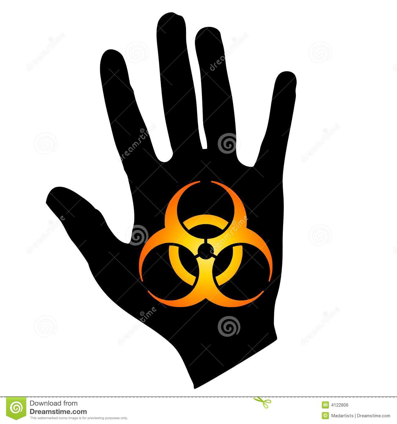 Biohazard symbol on hand gold black stock illustration royalty free stock photo biocorpaavc Image collections
