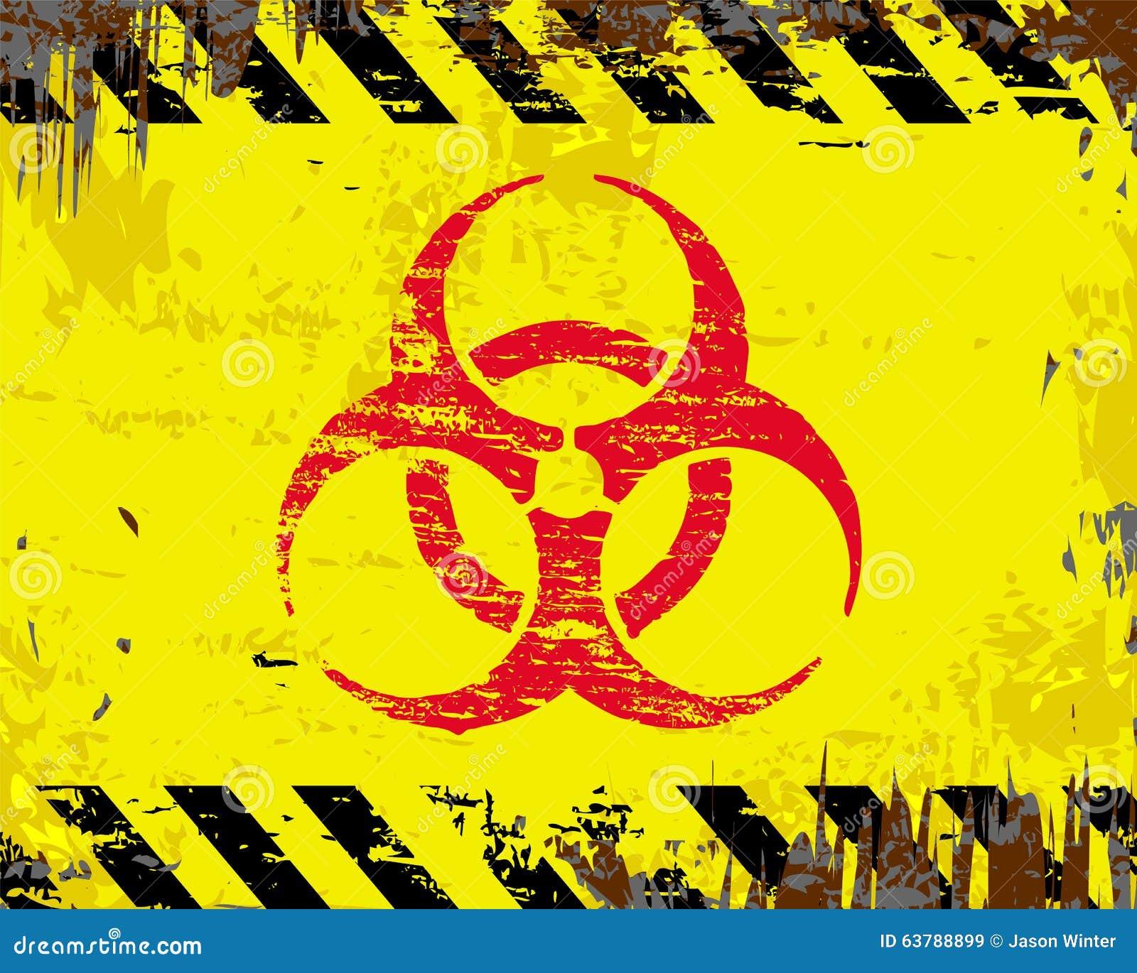 Biohazard Symbol Sign Stock Vector Illustration Of Access 63788899