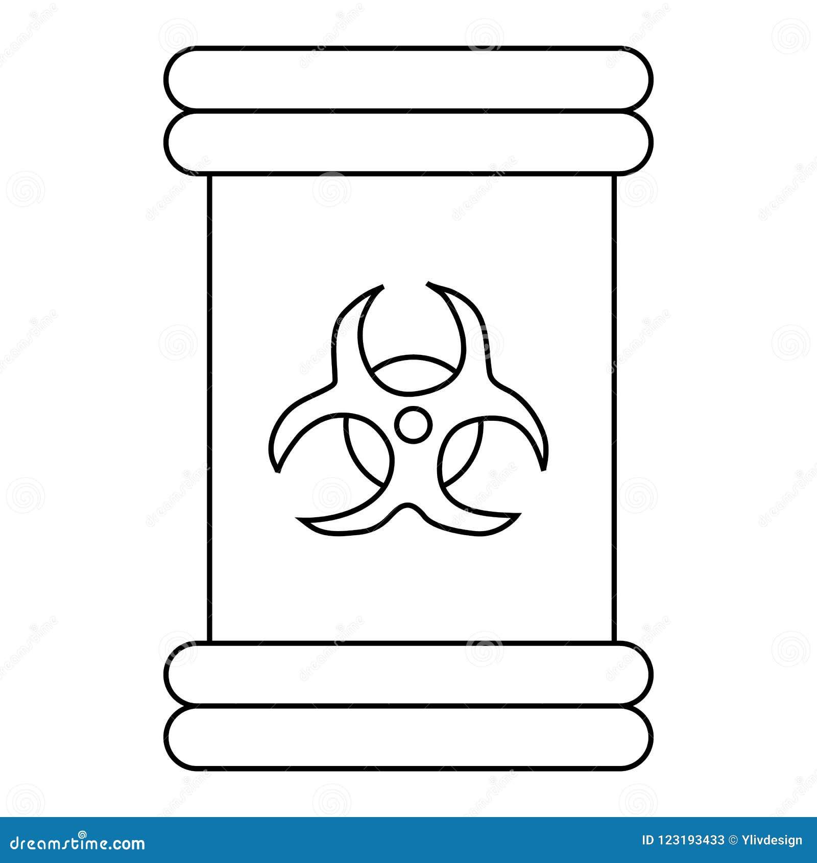 Biohazard Symbol Sign Icon Outline Style Stock Illustration