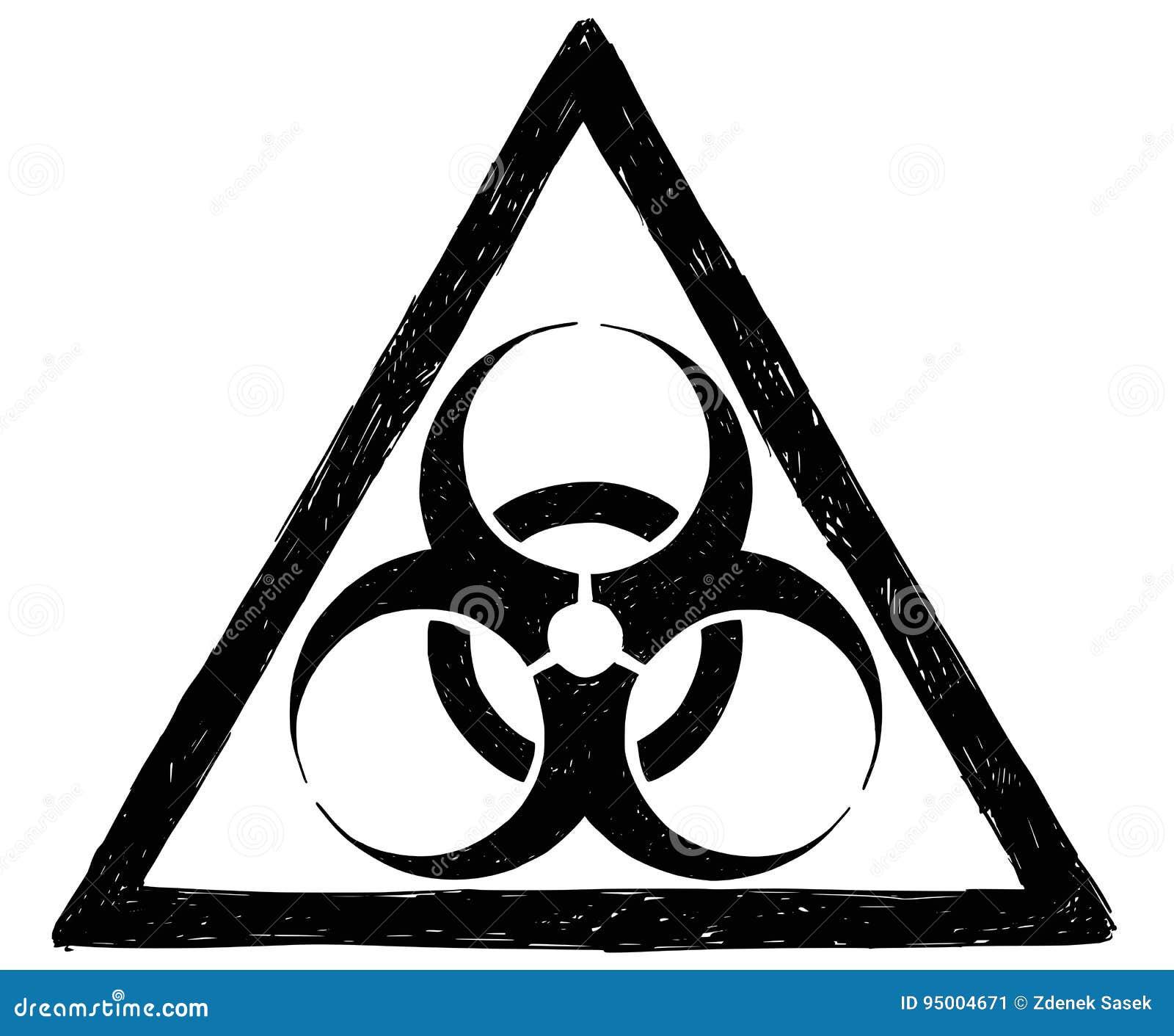 Biohazard Symbol Sign Vector Drawing Stock Vector Illustration Of