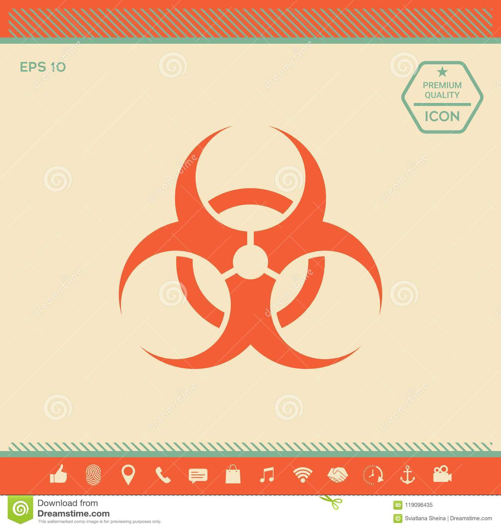 Biological Hazard Sign Stock Vector Illustration Of Poison 119096435