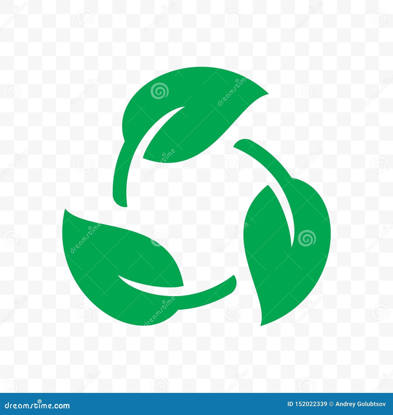Biologisch afbreekbaar rekupereerbaar plastic vrij pakketpictogram Vector bio rekupereerbaar chemisch afbreekbaar etiketembleem