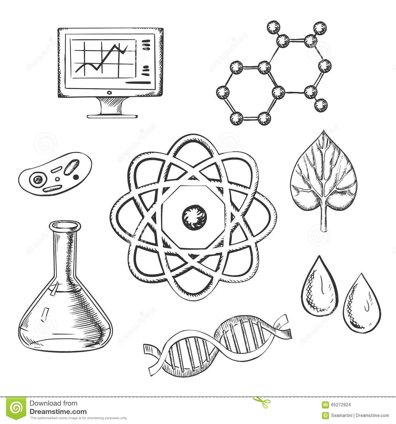 atoms and molecules coloring pages - photo#14