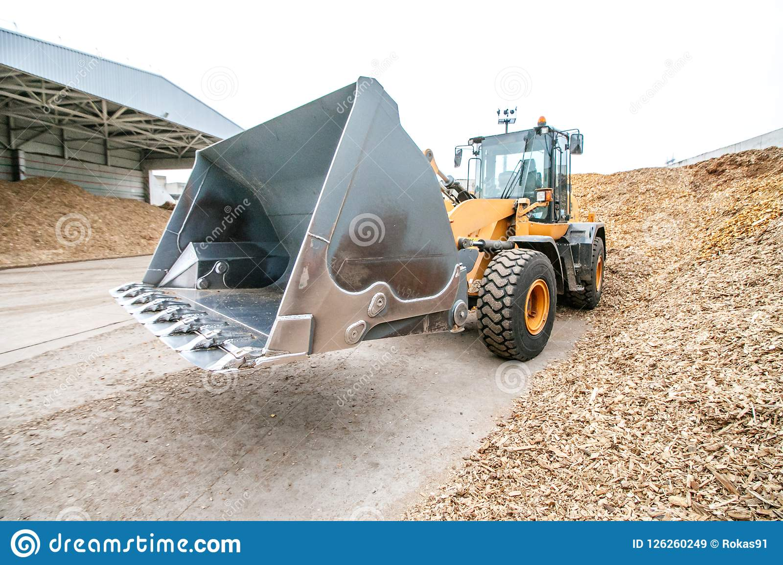 Biomass energy factory and tractor